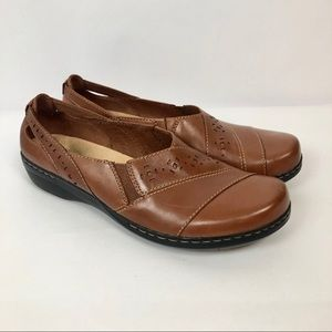 CLARKS Collection SOFT Slip-On Brown Leather Shoes